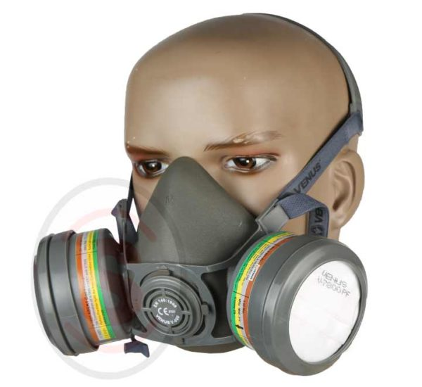 Venus Industrial Respirator Dual Gas Safety Anti-Dust Chemical Paint Spray Mask
