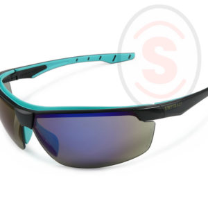 Blue Sporty Mirror Safety Spectacles