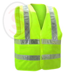 Fluorescent High Visibility Safety Vest
