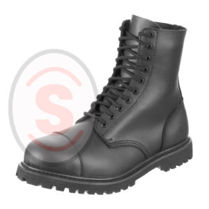 Security-Boots-Shoes-10-Hole-Undercover-Real-Leather-with-Steel-Cap-Black