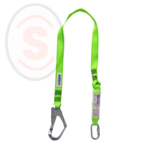 Webbing Lanyard With Energy Shock Absorber.