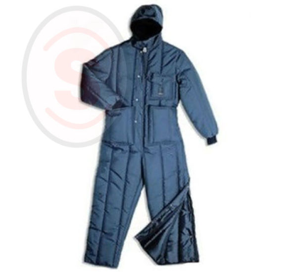 COLD STORAGE LONG COAT WITH HOOD