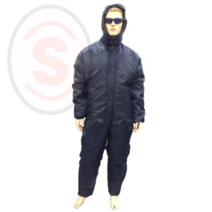 COLD STORAGE BOILER SUIT WITH HOOD