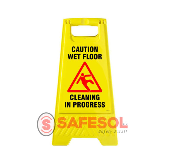 Wet Floor Cleaning In Progress Sign Small