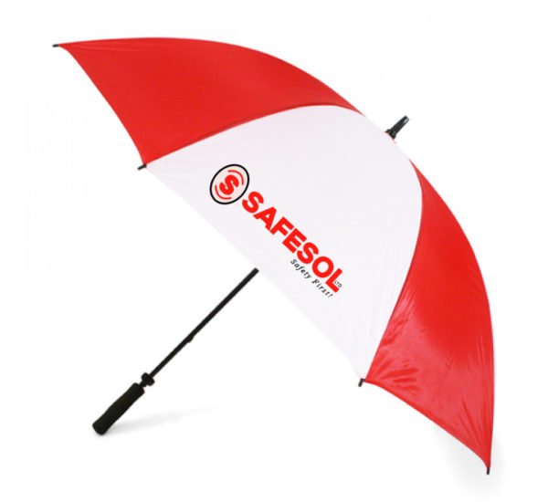 Red & White Plain Umbrella
