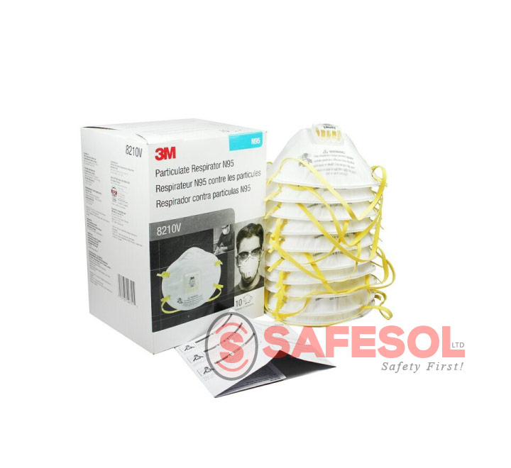 Respirator N95 Valve With Particulate 8210v Cool 3m Flow